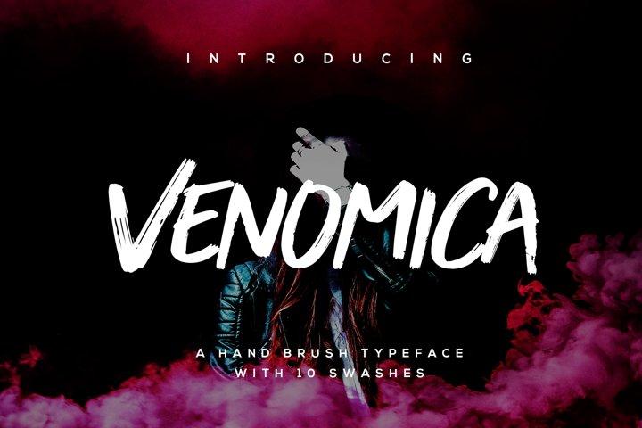 Venomica Hand Brush Typeface