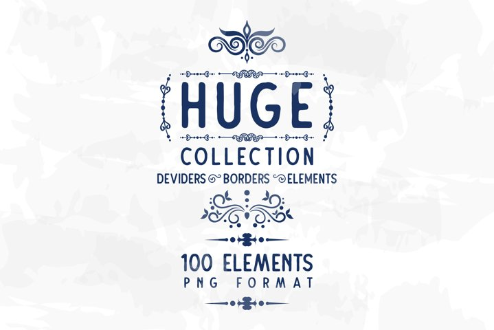 100 Borders Dividers and Elements MIX LOT