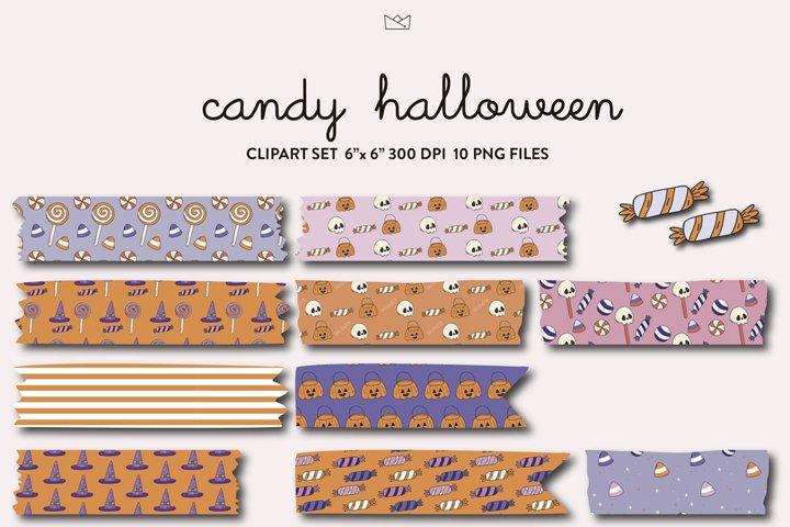 Halloween candy washi tape digital, clipart, candy corn