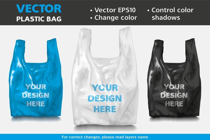 Vector Mockup Plastic Bag