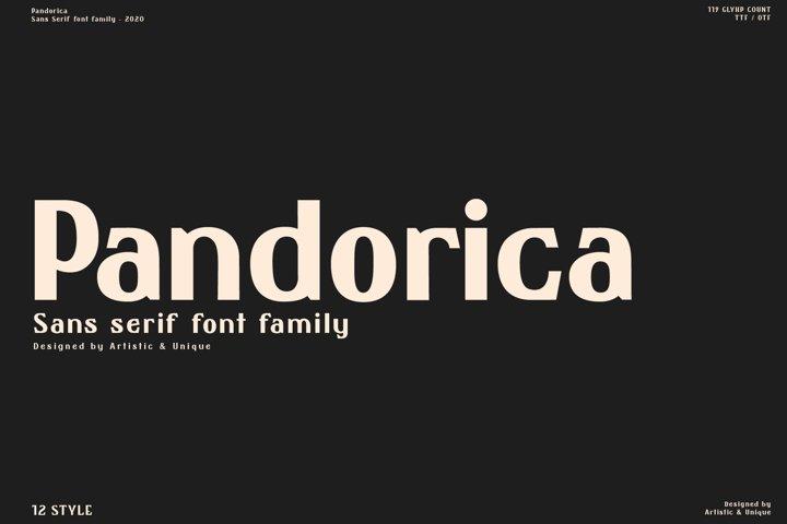 Pandorica - Sans serif font family