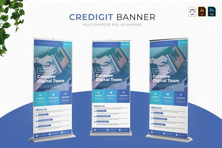Credigit   Roll Up Banner