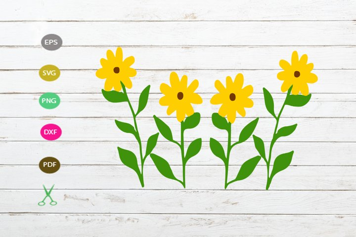 sunflower svg cut file.flower silhouette, flower for cricut,
