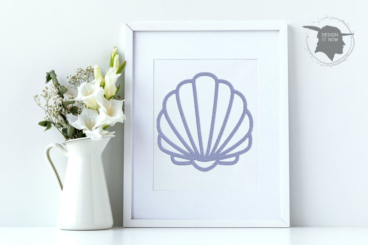 Sea Shell Embroidery Design, Ship Embroidery Pattern, Ocean