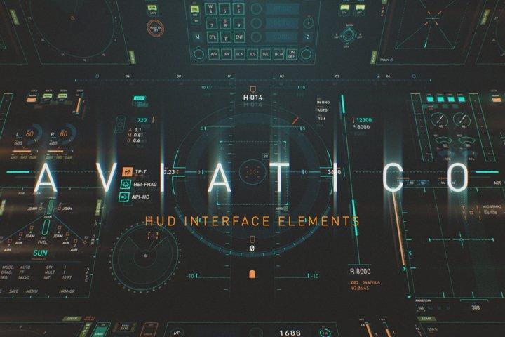 AVIATICO - HUD Futuristic UI element