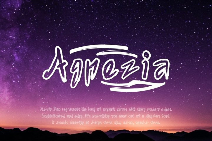 Agnezia - 5 Font styles and 150 Swashes