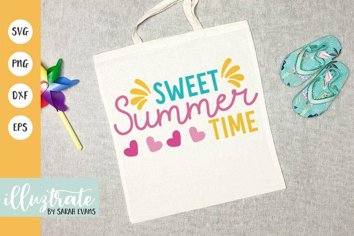 Sweet Summer Time SVG Cut File | Summer SVG | Beach SVG
