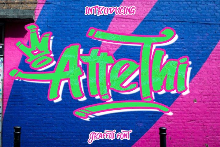 AtteThi Graffiti Font