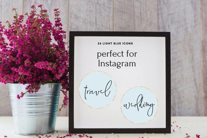 27 Handwritten Cover Set, Light Instagram Story Highlight