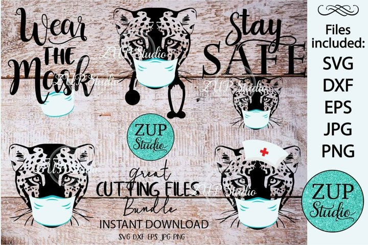 Leopard with Mask Digital Cutting files 527
