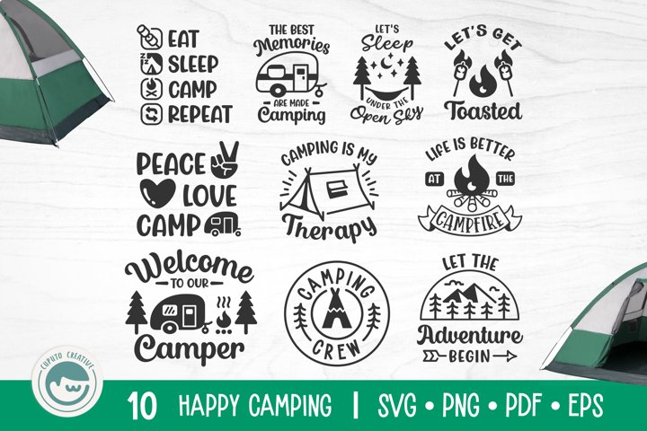 Camping SVG Cut File Bundle