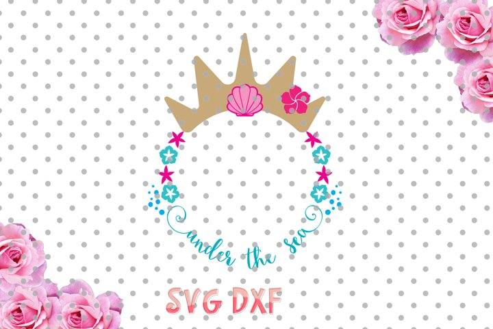 Under the sea svg, Mermaid SVG, Cut Files for Vinyl Cutters, mermaid dxf, shells svg, Cricut and Die Cut Machines, Silhouettes, SVG, DXF