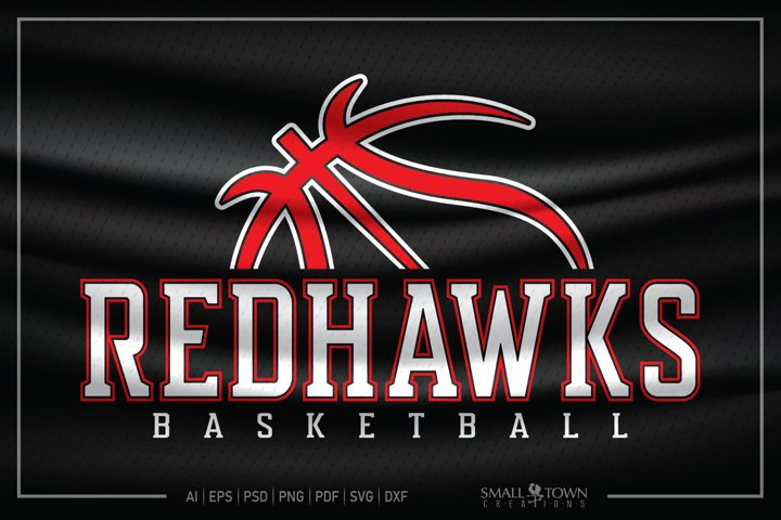 Redhawks, Redhawks Basketball SVG, Basketball SVG