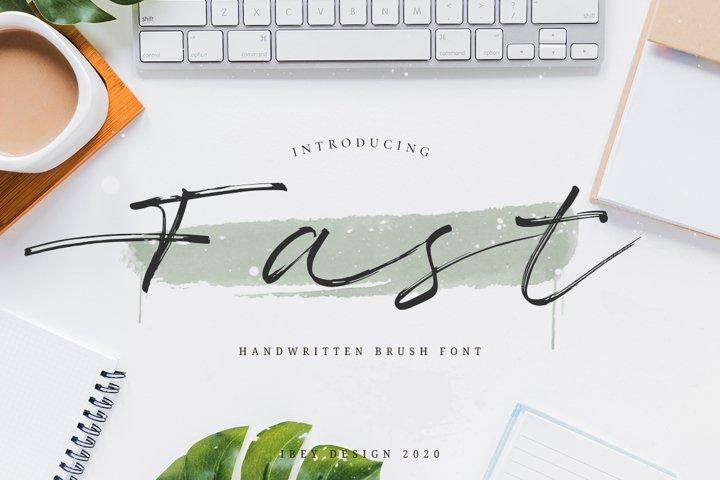 Fast Brush Font