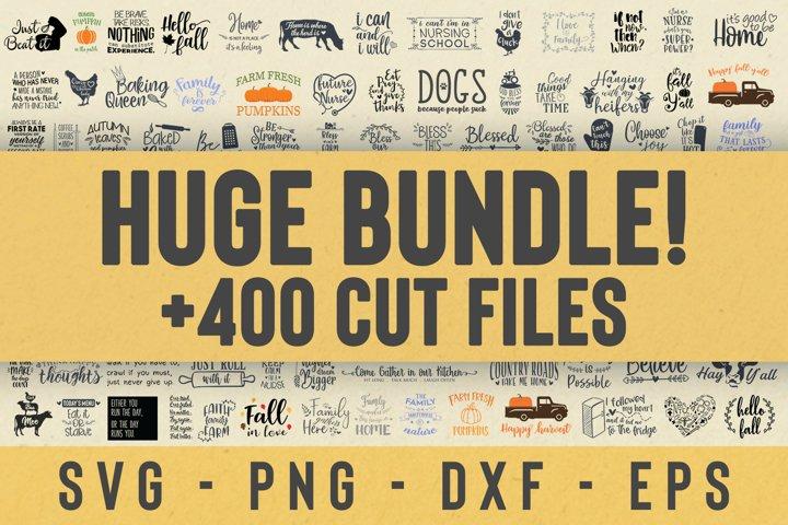 SALE! Over 400 Craft Cut files Bundle, Huge bundle svg