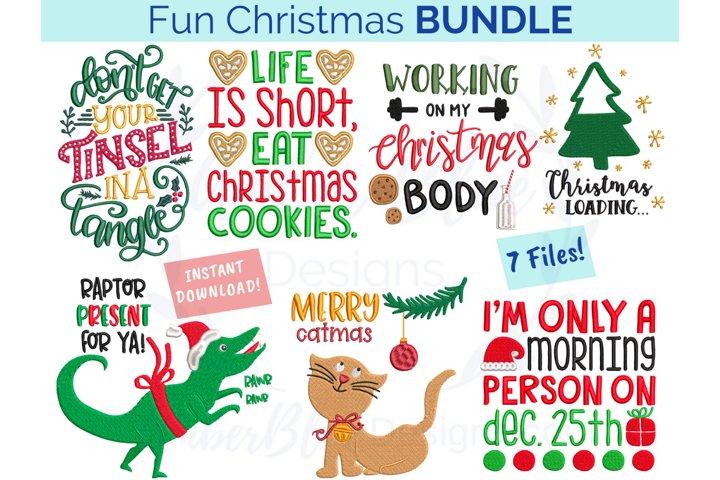 Fun Christmas Embroidery File Bundle