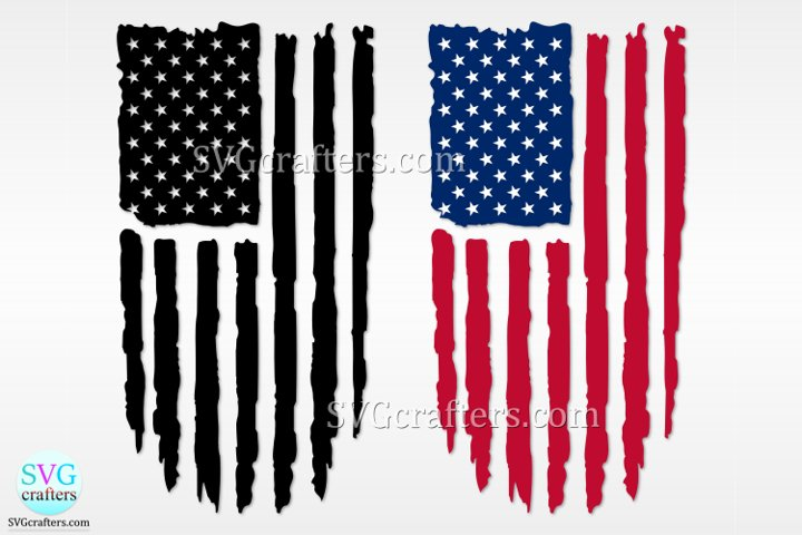 American flag svg, distressed flag svg, Grunge Flag SVG