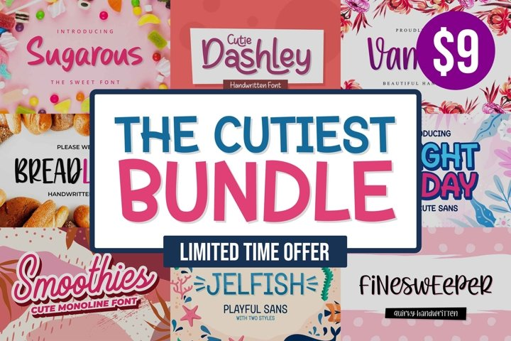 The Cutiest Font Bundle - Vol.1