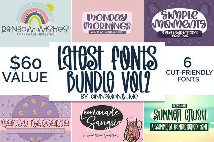 Handlettered Font Bundle Vol 2