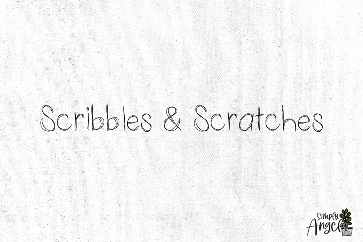 Scribbles and Scratches - a thin scratchy font