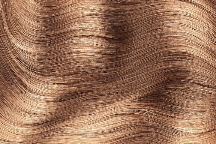 Brown shiny hair as background