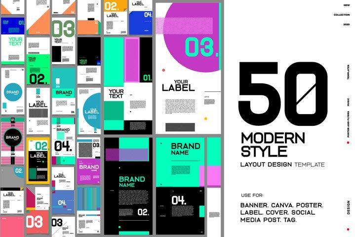 50 Modern Style Design Layout