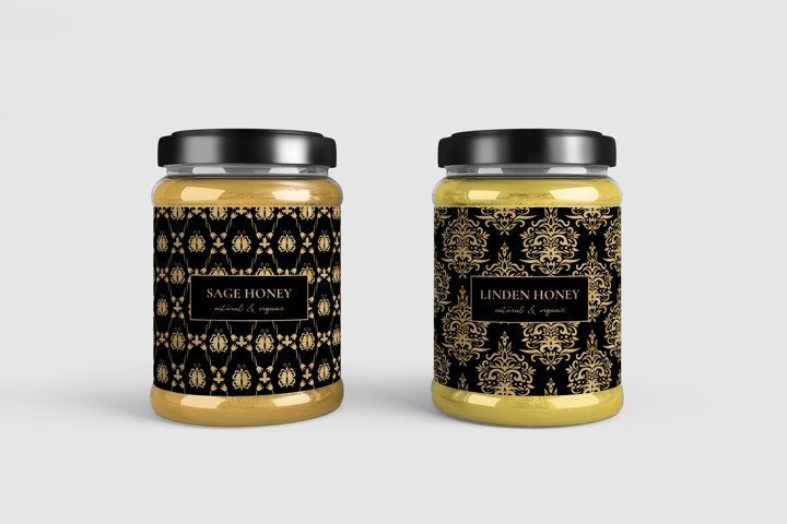 Black and Gold Seamless Papers - Damask & Geometric Patterns example 5