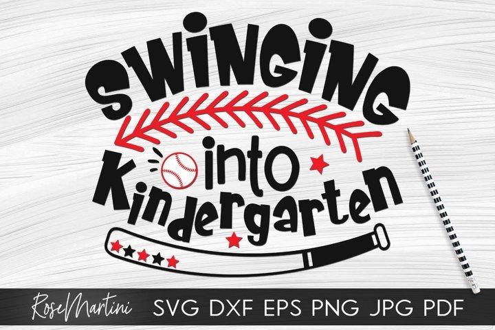 Swinging Into Kindergarten SVG PNG Funny Back To School svg