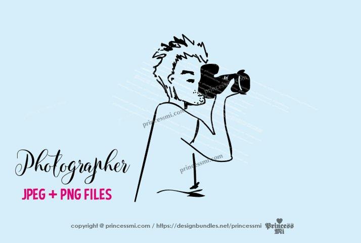 photographer clipart - men holding camera