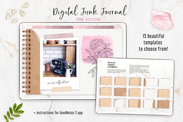 Digital Junk Journal PINK edition