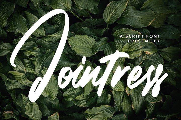 Jointress - Script Font