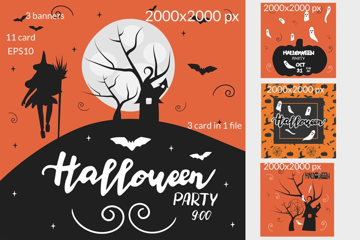 CARDS and INVITATIONS for HALLOWEEN