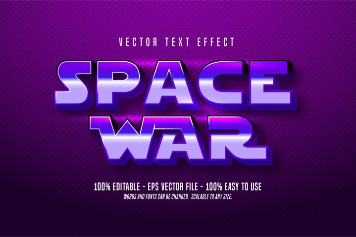 Space War editable text effect