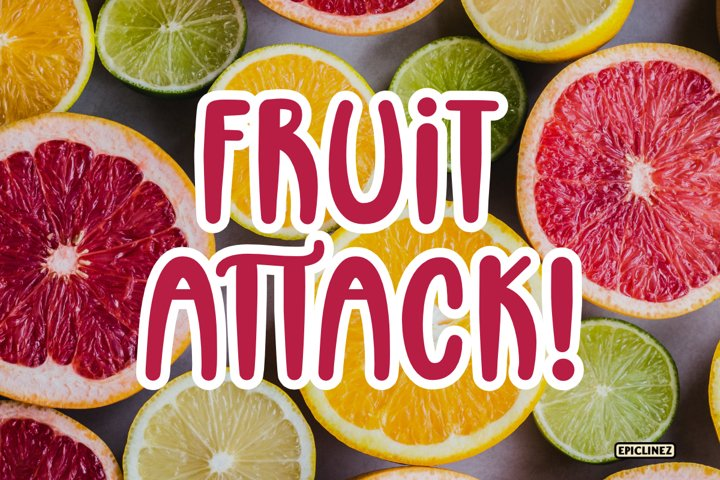 Fruit Of Heaven - A Fun Display Font example 3