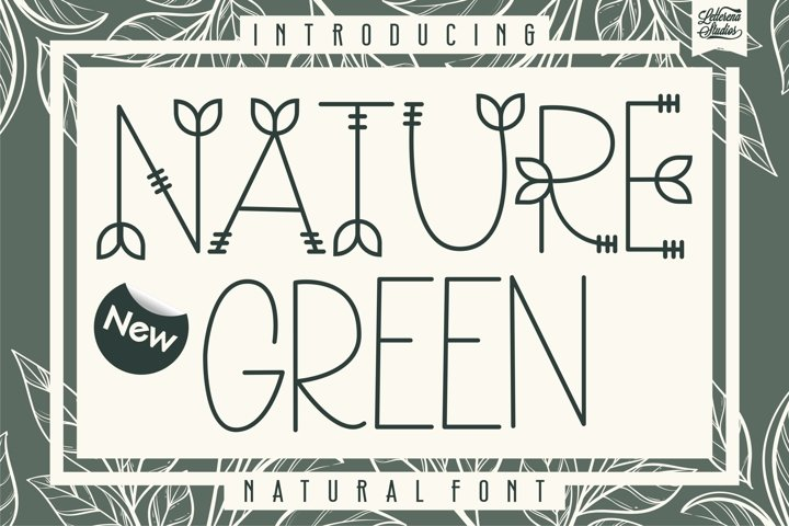 Nature Green - Nature Sans Serif Font