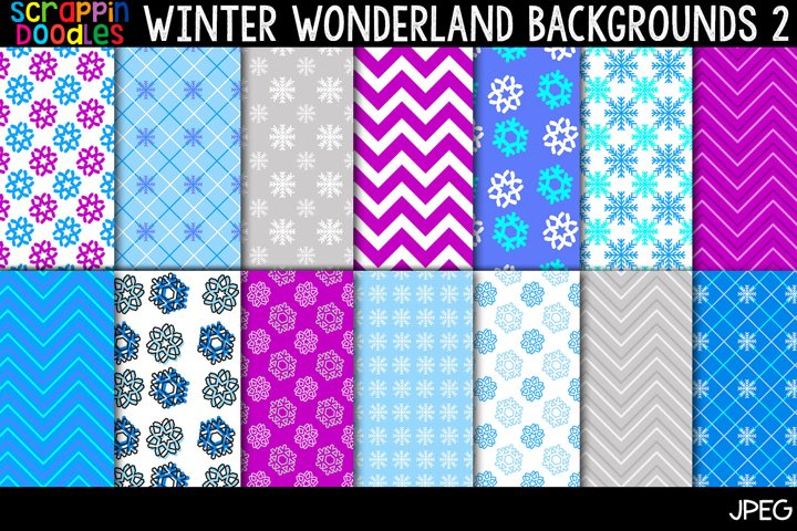 Winter Wonderland 2 Backgrounds - 12 x 12 Backgrounds