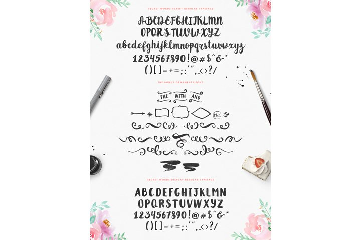 Secret Words Font Duo + Bonus - Free Font of The Week Design0