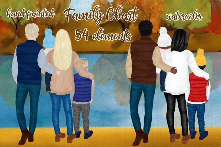 Fall Family clipart Fall Landscape Custom Family Mug designs