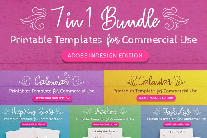7-in-1 Bundle InDesign Templates for Commercial Use