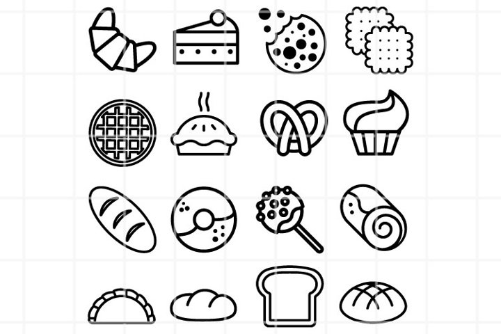 Bakery SVG. Confectionery SVG. Desserts cut files. Vector.