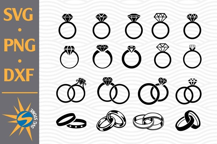 Ring Wedding SVG, PNG, DXF Digital Files Include