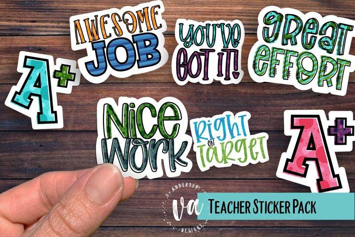 Teacher Sticker Pack PNGs
