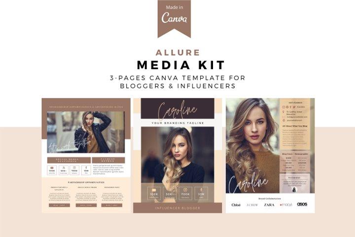 Allure Lady Media Kit Canva Template