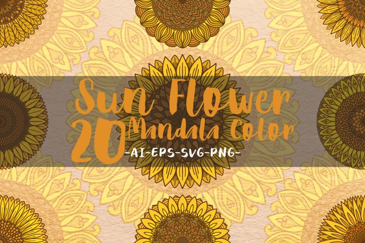 Sunflower mandalas color.