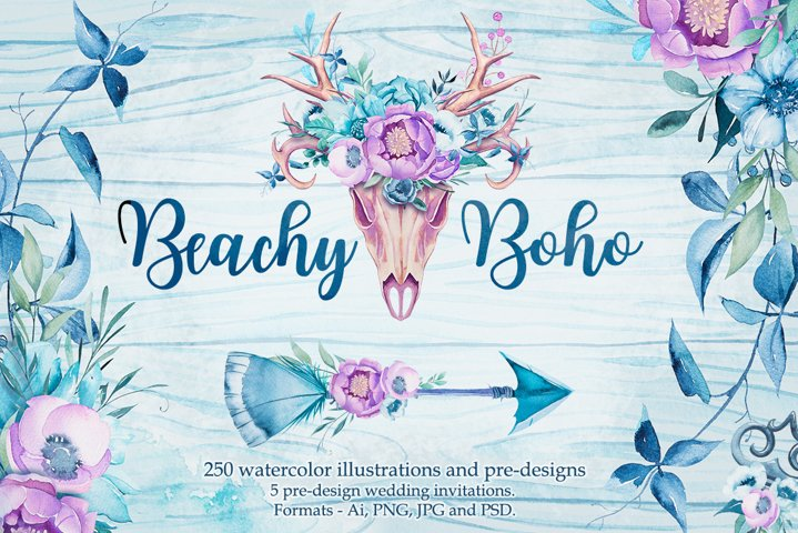 Beachy Boho watercolor