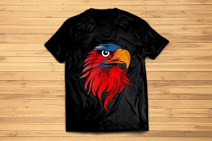 Eagle Logo - T-Shirt and Mockup svg,psd.