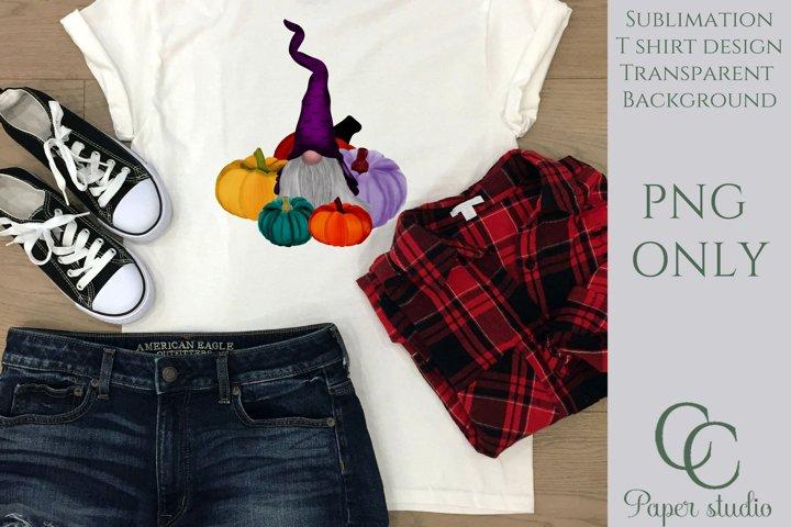 Sublimation design - Pumpkin patch gnome