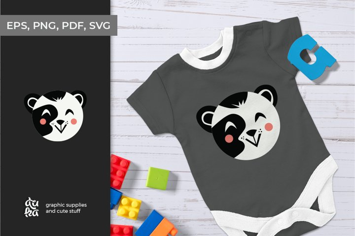Cute animals character SVG - Panda