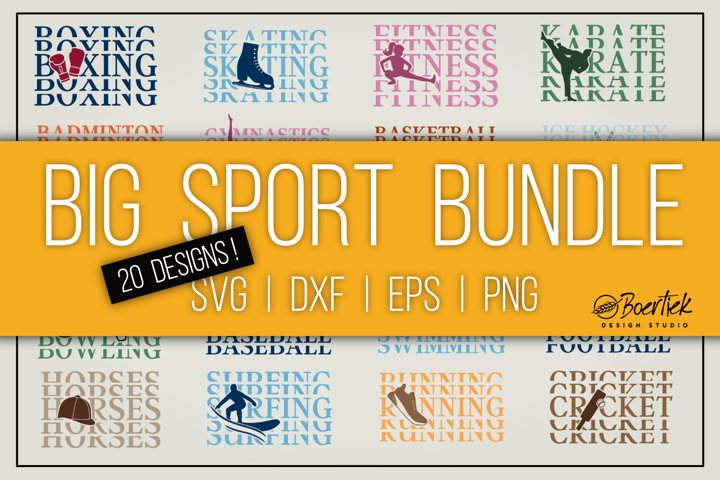 Big sport bundle, 20 cut files