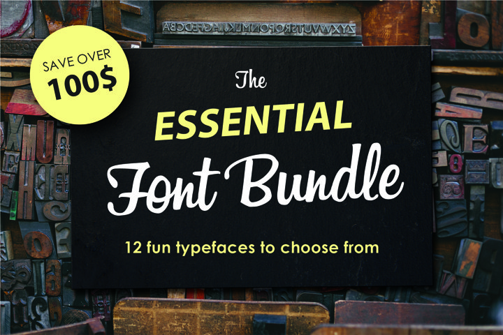 12 fonts in one bundle